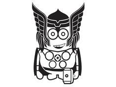 "Thor - Minion - Vinyl Decal - KID-ML5-20. Featured on ""16 Treasury Challenge Thread"" on Etsy"