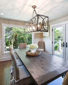 Harper Construction. Rectangle ChandelierDining Room LightingDining ...