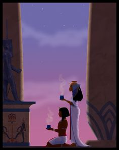 Nubian Egyptian Queen and son worshipping Egyptian Mythology, Egyptian Goddess, Ancient Egyptian Art, Egyptian Queen, Ancient Aliens, Ancient Greece, Ancient History, Prince Of Egypt, Religion