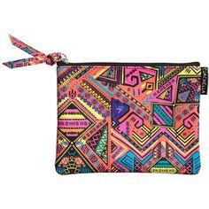 H&M Loves Coachella   H&M RS ($6.99) ❤ liked on Polyvore featuring vegan leather purse, zipper handbag, vegan purses, zipper purse and print handbags