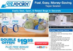 EZ Sealer is a handy tape sealer that quickly opens, seals, and reseals bags. Does it work as advertised? Here is our EZ Sealer review.