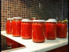 Πώς να φτιάξεις σάλτσα ντομάτας - Κονσέρβα στο σπίτι - YouTube Hot Sauce Bottles, Dips, Healthy, Youtube, Food, Sauces, Essen, Dip, Meals