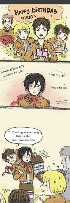 : I do like it a lot! .......... It's a bit late cause her birthday is 10 Feb but doesn't matter hehehehe XD Mikasa Ackerman©Shingeki no Kyojin ( Att...