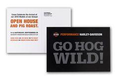 Pig roast for Harley (postcard design: Michelle Bersani)