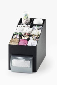 Classic Condiment Organizer  Item: 2042. This 6 compartment dispenser has room to get all of your condiments looking well prepared! With the option of adding a standard napkin dispenser below the organizer, this product is built with efficiency in mind! http://www.calmil.com/index.php?page=shop.product_details&flypage=flypage.tpl&category_id=4&product_id=1623&option=com_virtuemart&Itemid=50