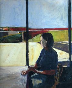 Woman in Profile - Richard Diebenkorn (American, 1922-1993) Expressionism