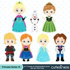 Frozen Digital Clipart Frozen Clipart Princess by Cutesiness