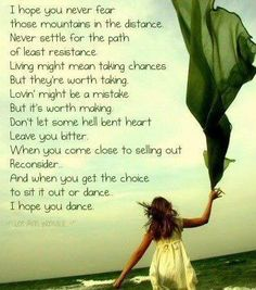 I loved this song when I was little because I love to dance. Now that I'm older and understand the lyrics more because I have lived it, I love it more and still love to dance! :)