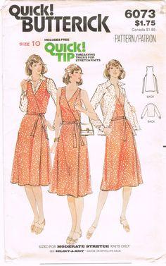 Butterick 6073 Vintage 1970s Sewing Pattern by HappyIFoundIt, $7.50