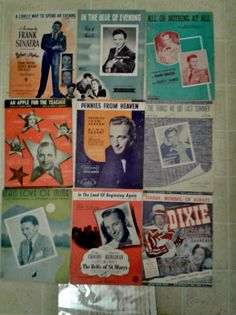 Frank Sinatra - Bing Crosby - Fred Astaire -  Lot of 31 Pieces of Sheet Music  - Vintage - Original. $30.00, via Etsy.