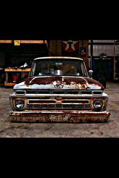 66 F100 - Im in love Bagged Trucks, Lowered Trucks, Ford Pickup Trucks, Car Ford, Cool Trucks, Big Trucks, Vintage Pickup Trucks, Shop Truck, Old Fords