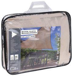 Schaduwdoek waterdoorlatend driehoek x x - crème Lunch Box, Om, Water, Products, Rain, Gripe Water, Bento Box, Gadget