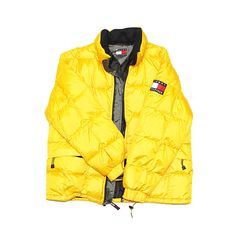 We found this vintage 90's Era Tommy HIlfiger Puffer coat in classic yellow! Browse more of our vintage 90's at www.stationdenver.com #tommyhilfiger #vintagetommyhilfiger #vintage90s #puffercoat #vintageclothing #boxlogo