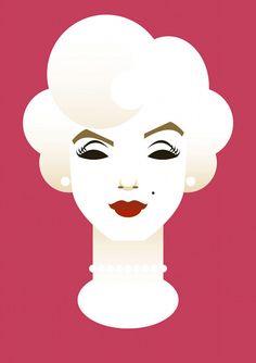 Minimalist Pop Culture Caricatures : Marylin Monroe