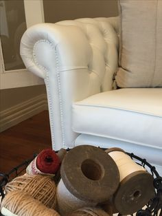 Painted leather from dark brown to gorgeous white