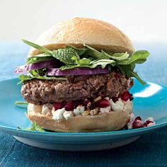 pomegranate & feta burger. anything for a good burger.
