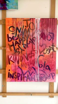 Abstract Canvas Art, Acrylic Art, Bright Abstract Art, Abstract Paintings, Posca Art, Graffiti Art, Painting Techniques, Diy Art, Art Projects