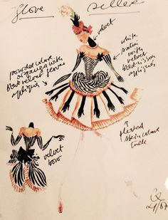 Christian Lacroix sketch. Foto taken at Les Arts De La Scène in Paris 2014