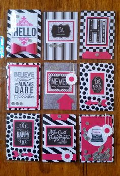 AnnMarie's Stamping Adventures!!: Pink and black is a beautiful thing!