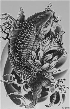koi tattoo design - Tattoos And Body Art Koi Dragon Tattoo, Pez Koi Tattoo, Koi Tattoo Sleeve, Carp Tattoo, Dragons Tattoo, Japanese Sleeve Tattoos, Dragon Tattoo Designs, Koi Fish Tattoo Forearm, Tatto Koi
