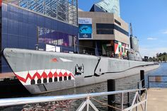 USS Torsk SS 423 on display next to The National Aquarium in Inner Harbor, Baltimore, Maryland.