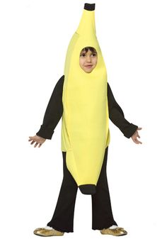 Toddler Banana costume #Halloween #Food #Fruit