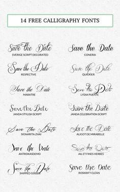 14 Free Calligraphy Fonts Oh Lovely Life Handwritten Fonts, Typography Fonts, Typography Design, Cursive Tattoo Fonts, Font Tattoo, Dingbat Fonts, Script Lettering, Pretty Fonts, Beautiful Fonts