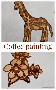 Coffee painting. Kids love it as it is very different medium to paint with.