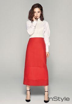 j contentree M&B magazine Korea Fashion, Fashion Days, Womens Fashion, Instyle Magazine, Korean Celebrities, Asian Woman, Pink Dress, My Girl, Work Wear