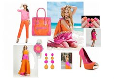 orange and pink fashion board by lindaholtinteriors | Olioboard #FASHION