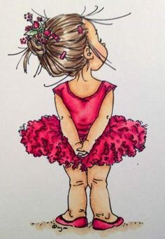 Illustration by Mo Manning Mo Manning, Sarah Kay, Digi Stamps, Cute Illustration, Ballerina Illustration, Cute Drawings, Dancing Drawings, Cute Art, Cute Kids