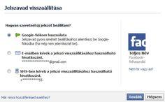 Facebook jelszo visszaállítás