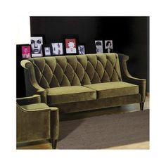 $1624 Barrister Velvet Sofa in green and gray at wayfair