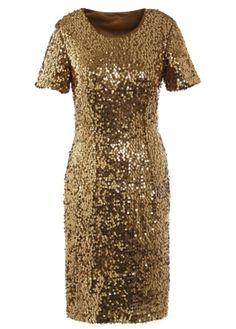 #golden #dress with #sequins #bonprix