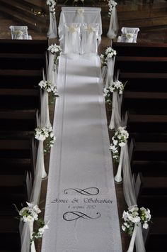 DIY Indoor Wedding Aisle Decorations for Church chiffon wedding aisle decorations Church Wedding Flowers, Wedding Pews, Wedding Isles, Diy Wedding, Wedding Bouquets, Dream Wedding, Wedding Isle Decorations, Church Decorations, Indoor Wedding