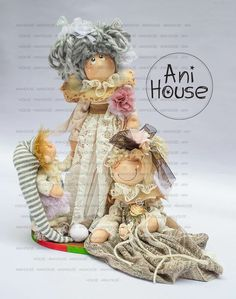 Beautiful Dolls, Fun Crafts, Teddy Bear, Christmas Ornaments, Toys, Fabric, Molde, Baby Dolls, Log Projects