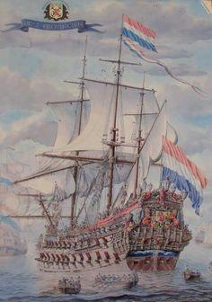 De 7 Provinciën Anglo Dutch Wars, Holland, Old Sailing Ships, Ship Paintings, Man Of War, Old Boats, Nautical Art, Ship Art, Henri Matisse
