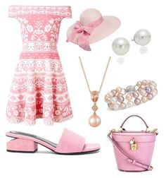 """""""Wednesday"""" by mcounce on Polyvore featuring Alexander McQueen, Alexander Wang, Dolce&Gabbana, AK Anne Klein, LE VIAN and Blue Nile"""