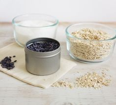 This weekend set yourself free with a relaxing DIY Oatmeal and Lavender Bath Soak #theeverygirl
