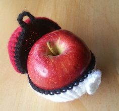 Not only did I not know apples needed cozies but seriously? Cosplay for fruit? There is just something wrong with this. Wtf?