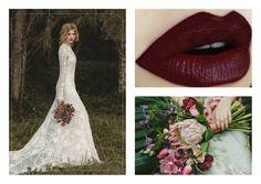 ♚ Novias ♚ Labios oscuros con colores como el bordó, ciruela y rojos oscuros. Ramo de flores y Labios en colores vinos. Ideal para invierno!!! #Bohochic #Novias #wedding https://www.facebook.com/pages/B%C3%A1rbara-Gonzalez/301086055057?ref=hl