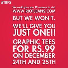 The Flash sale by Riot  #Client #ClientWork #Clientele #WorkPortfolio #Clothing #WomenFashion #Fashion #Lifestyle #MenFashion #Christmas #Sale #Promotion #DigitalAdvertising #SocialMedia #DigitalMedia #Digital #DigitalMarketing #Design #Agency #AdAgency #AgencyLife #AgencyWork #3WM #Mumbai #India Competitor Analysis, Sale Promotion, Design Agency, The Flash, Digital Media, Christmas Sale, Mumbai, Digital Marketing, Graphic Tees