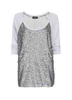 MANGO - Loose-fit sequined t-shirt