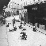 soldati tedeschi stanno minando ponte vecchio firenze