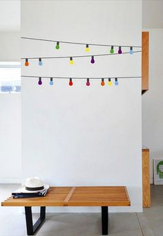 Party Lights Wall Decal