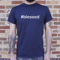 Mens Hashtag Blessed T-Shirt