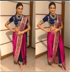 dhoti saree style how to wear / dhoti saree + dhoti saree style + dhoti saree how to wear + dhoti saree anamika khanna + dhoti saree wedding + dhoti saree style how to wear + dhoti saree style indian weddings + dhoti saree sonam kapoor Dhoti Saree, Drape Sarees, Anarkali, Lehenga Choli, Salwar Kameez, Dress Indian Style, Indian Dresses, Indian Outfits, Indian Wear