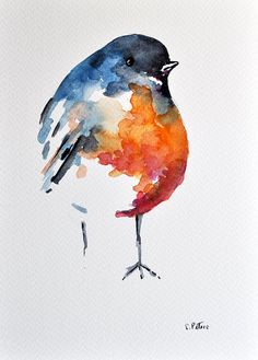 Hey, I found this really awesome Etsy listing at https://www.etsy.com/listing/185108128/original-watercolor-painting-bird
