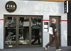 Exterior signage created by Designers Anonymous for Brick Lane bar and kitchen Fika.