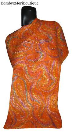 Felt Scarf, Merino Felt Scarf, Nuno Felt Scarf, Felt Silk Scarf, Unique Scarf, Silk Scarf, Nuno Felt Silk Scarf, Merino Silk,Scarves,Felted , Felting/ Nuno/ scarf/ shawl/ Filzen/ Schal/ Нуно войлок/ шарф/ шаль/ палантин